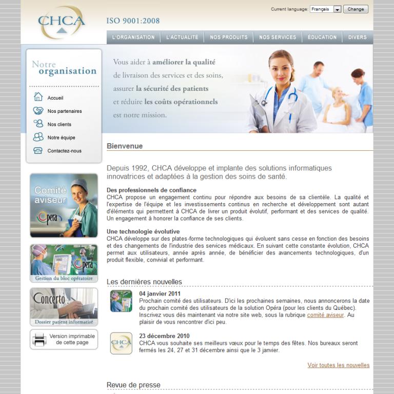 Site web CHCA