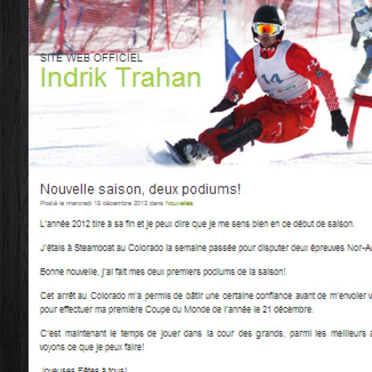 Site Web athlète